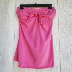 Pink Tube Top with Bow